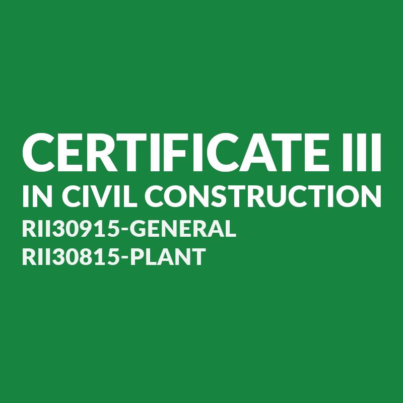certiii civil construction